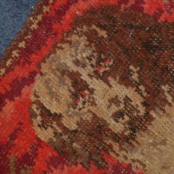 Antique Victorian Hooked Dog Rug - Rugs and Textiles