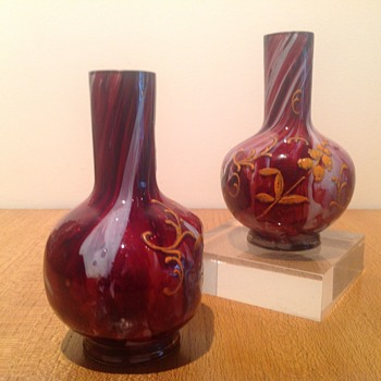 MYSTERY BOHEMIAN VASES - Art Glass