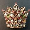 Regency crown brooch