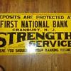 First National Bank Cranbury, NJ Tin Sign