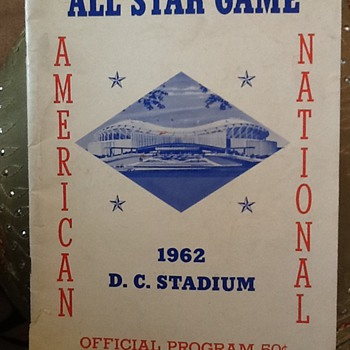 1962 All Star Game Program American League v. National League