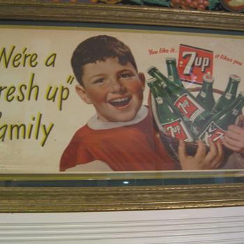 Cardboard 7UP Sign - Advertising