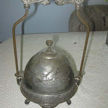 Mystery dated Meriden butter dish??? - Silver