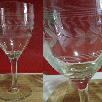 Looking for info on etched wine glasses - Glassware