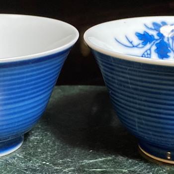 Pair of Japanese Teabowls - Chawan - Asian