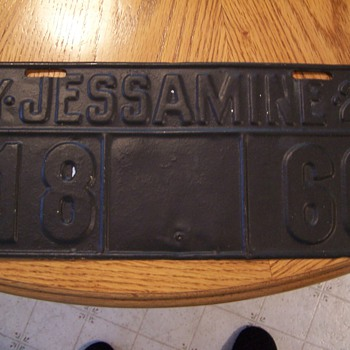 1927 Vehicle License Plate