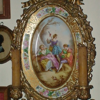 Antique Plate Wall Candle Holder - Lamps