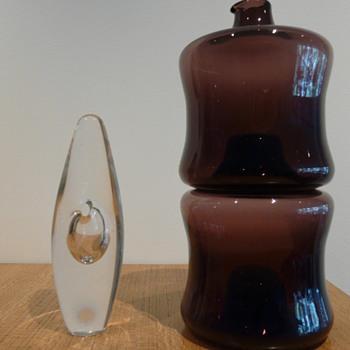Timo Sarpaneva Orkidea & Pinottava Pullos - Art Glass