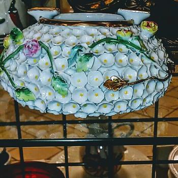 Ladies Embellished ashtray - Tobacciana