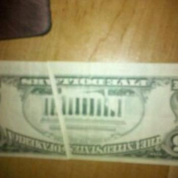 $5 error - US Paper Money