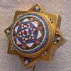 French18 K Micro Mosaic Estruscan style stick pin