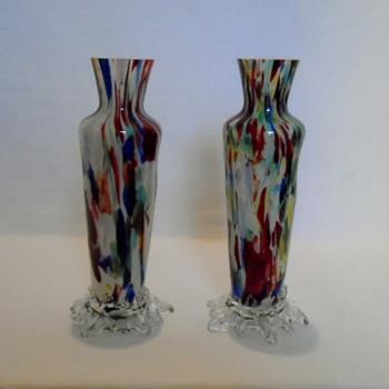 Welz Spatter Vases - Art Glass