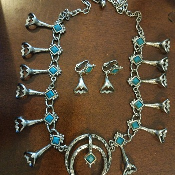 Squash Blossom Necklace and Earrings from ?? Was it Grandma's or Mom's?? - Costume Jewelry