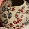 Antique Vase with either cherry tree or flower tree