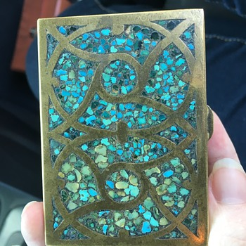 Brass & Turquoise Box made India - Fine Jewelry