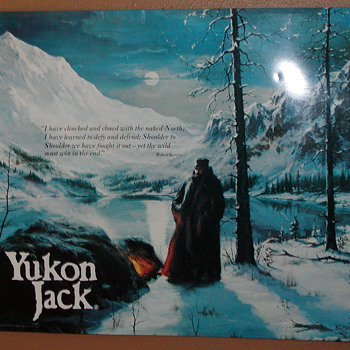 A FRIENDS METAL  SIGHN OF  YUKON JACK 1978 - Signs