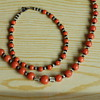 Art deco Czech glass necklace and bracelet