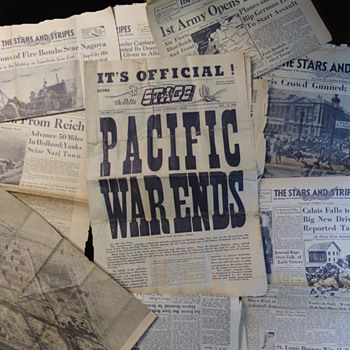 WW2 News-Papers from Charity Shop - Military and Wartime