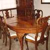 Beautiful Figured Walnut Dining Set - Waring and Gillows?