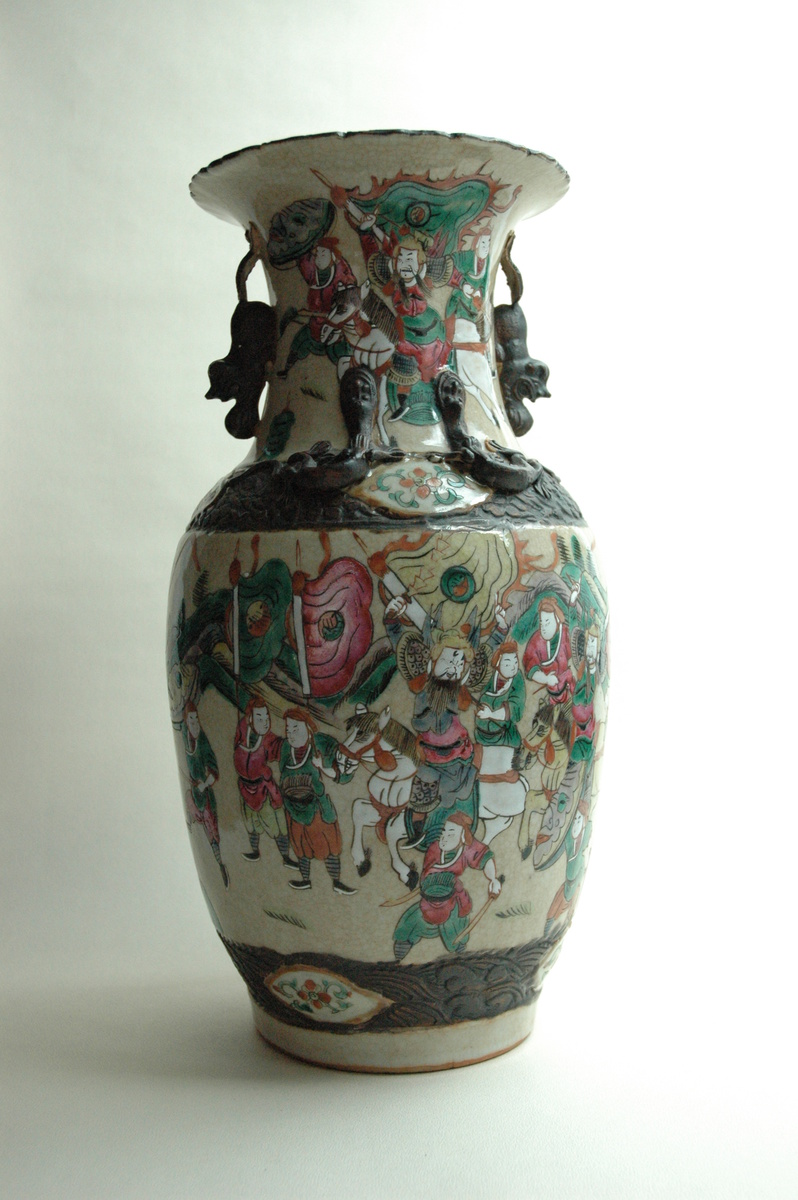 Large antique chinese nankin pottery vase with warrior scene large antique chinese nankin pottery vase with warrior scene collectors weekly reviewsmspy