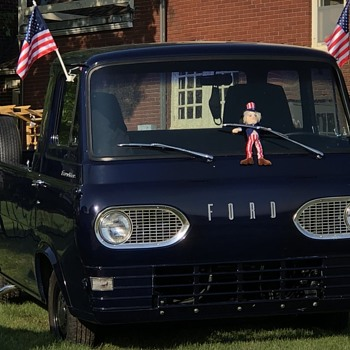 Patriotic Ford Econoline - Fourth of July Weekend - Classic Cars