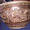 Antique Chinese Metal and Carved Wood Nesting Bowls