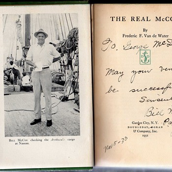 The Real McCoy,  Bill McCoy signed copy. - Books