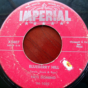 1956 Fats Domino Blueberry Hill 45rpm - Records