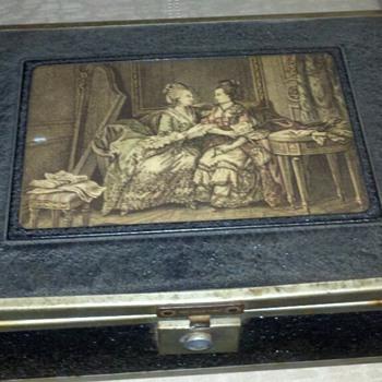 antique cigar box tramp art ?