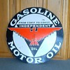 INDEPENDENT GASOLINE MOTOR OIL PORCELAIN SIGN