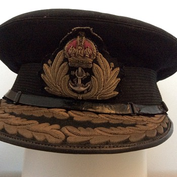 Royal Navy Admiral Visor Cap - Military and Wartime