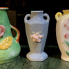 Three Made in Japan Art Pottery Vases - miniatures