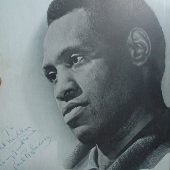 Paul Robeson autograph - Movies