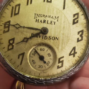 ingraham harley davidson pocket watch  - Pocket Watches