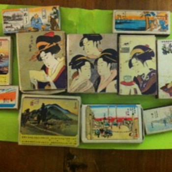 various ukiyo-e decorated matchbooks