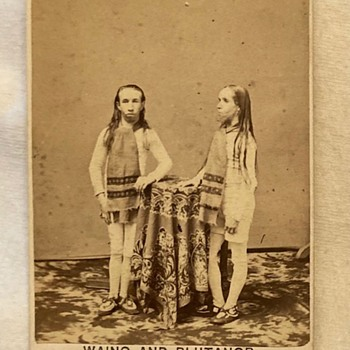 Famous Circus sideshow performers cdv - Advertising