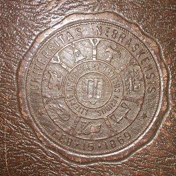 1928 University Of Nebraska Leather Binder - Books
