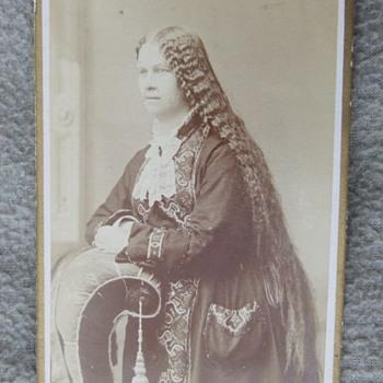 LONG Hair on Wisconsin Woman cdv - Photographs