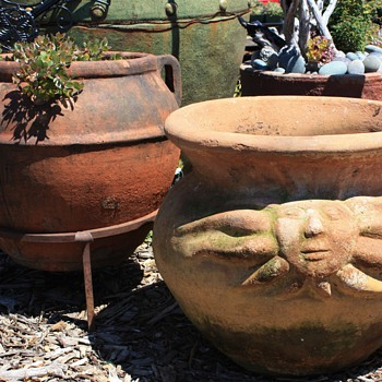 A couple of older terracotta pots - Pottery