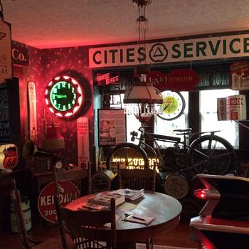 Original 1930's Aztec Neon Cleveland Clock