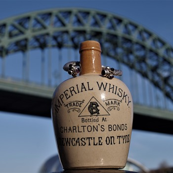 the discovery of charlton,s bonds imperial whisky  newcastle on tyne  historical famous location in newcastle  upon tyne - Bottles