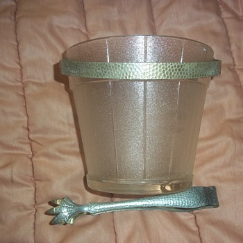 Ice Bucket and holder belonging to best friend's Great Uncle