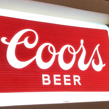 Vintage Coors sign - Signs