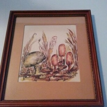ARTWORK SIGNED HARRINGTON - Fine Art