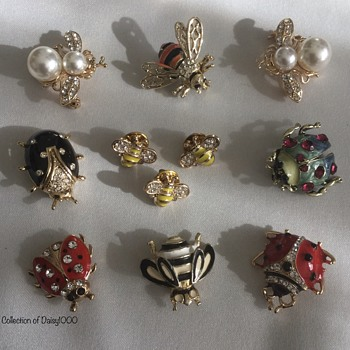 Suddenly Spring-Into-Summer (2) — Some Bugs  - Costume Jewelry