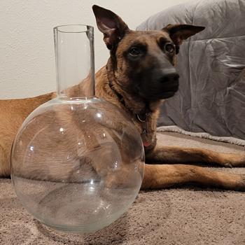Giant Round Bottom Flask - Art Glass