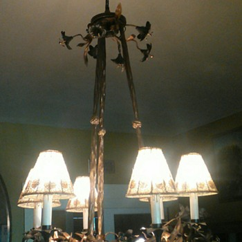 Bronze flower chandelier - Lamps