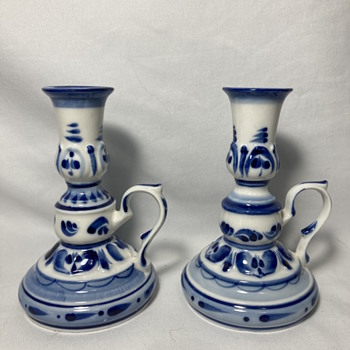 Delft porcelain candle holders - Lamps
