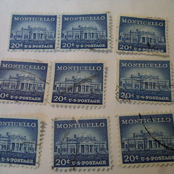 Monticello 20cents U.S. Stamps