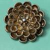 Silver flower brooch marked Tiffany
